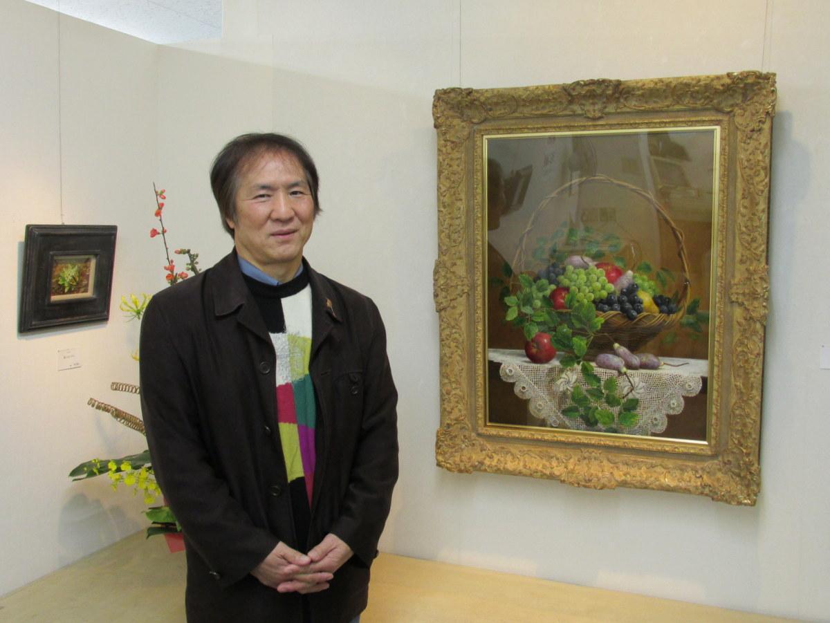 八戸在住の画家・下村正二さんの油絵展