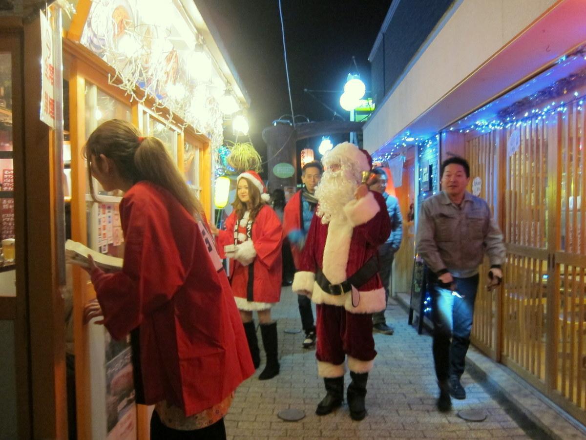 八戸屋台村でクリスマス・イルミネーション