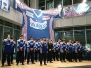 八戸で東北フリーブレイズがプレーオフ出陣式 アジア王座奪還を誓う