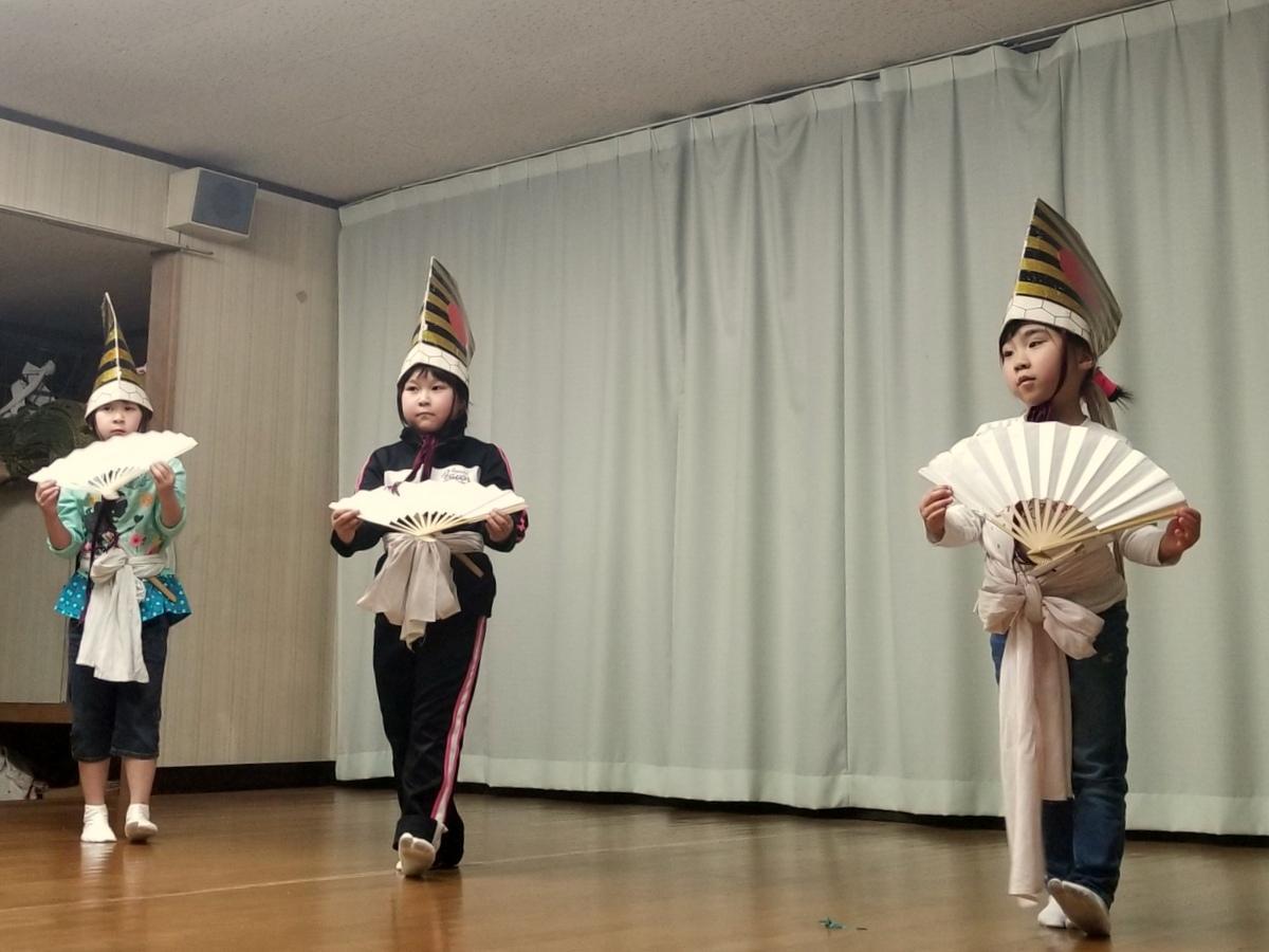 「鮫神楽発表会」練習の様子