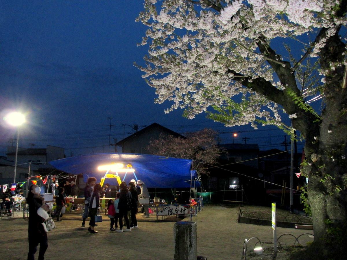 「しろがね夜桜フェス」の様子