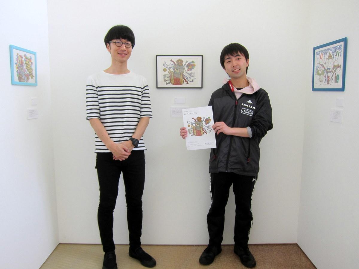 佐藤勇太さん(右)と池田講師
