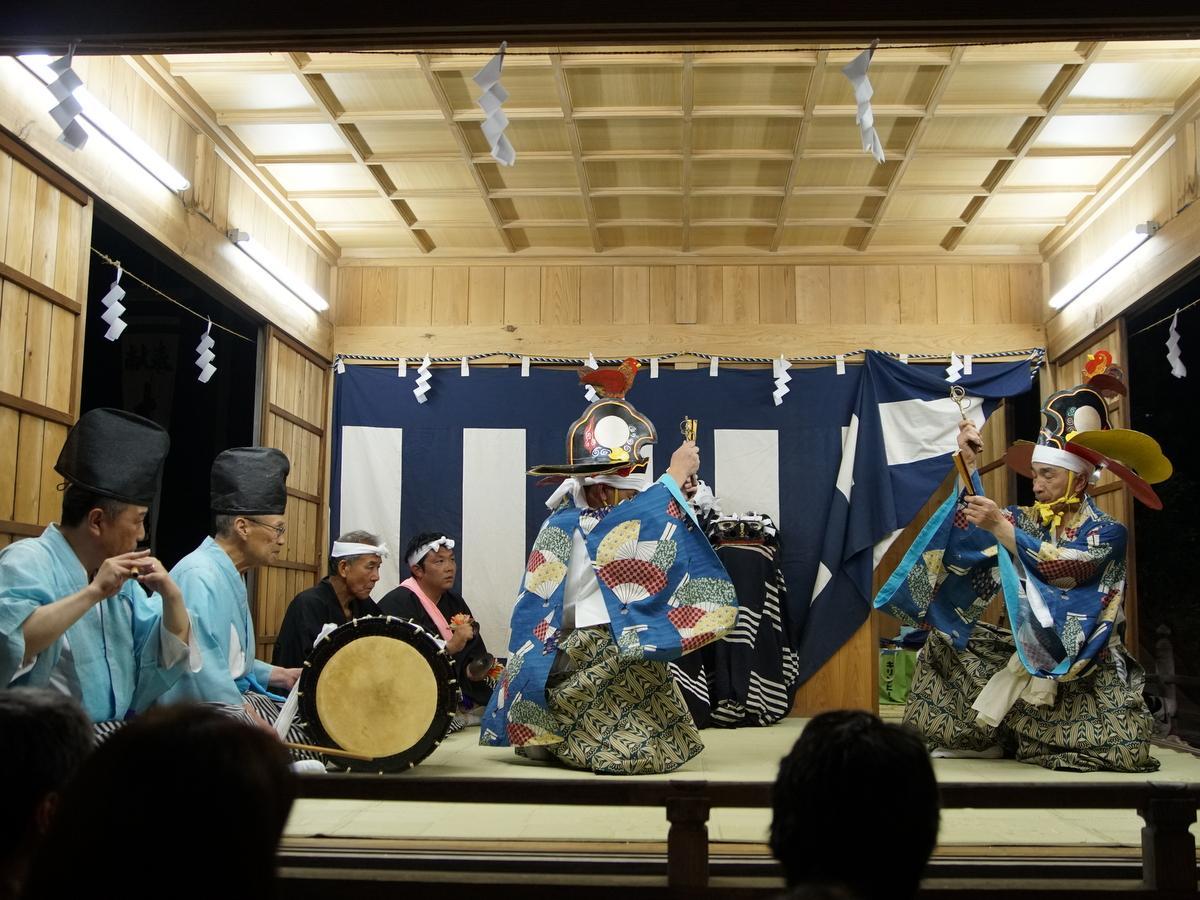 笹ノ沢神楽保存会の舞