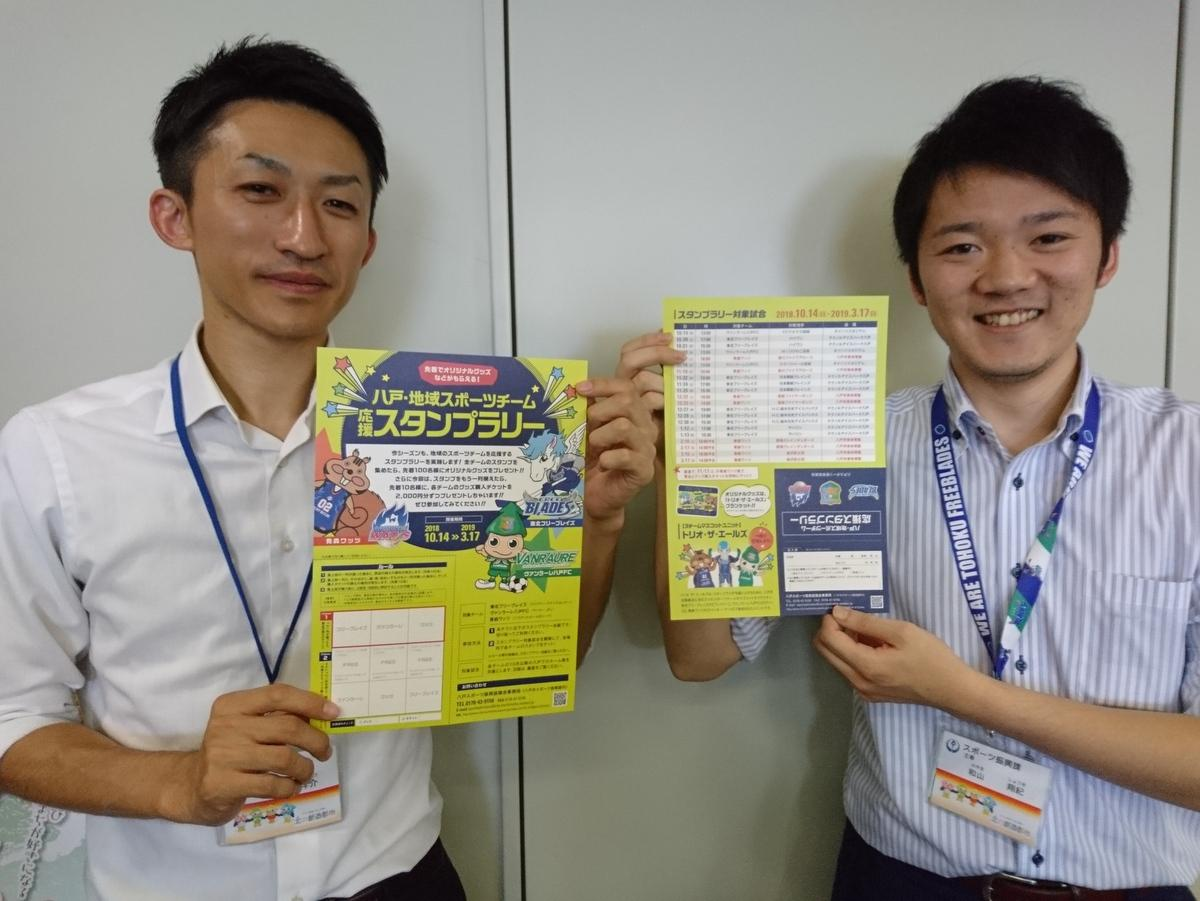 八戸で地域のスポーツチームを応援