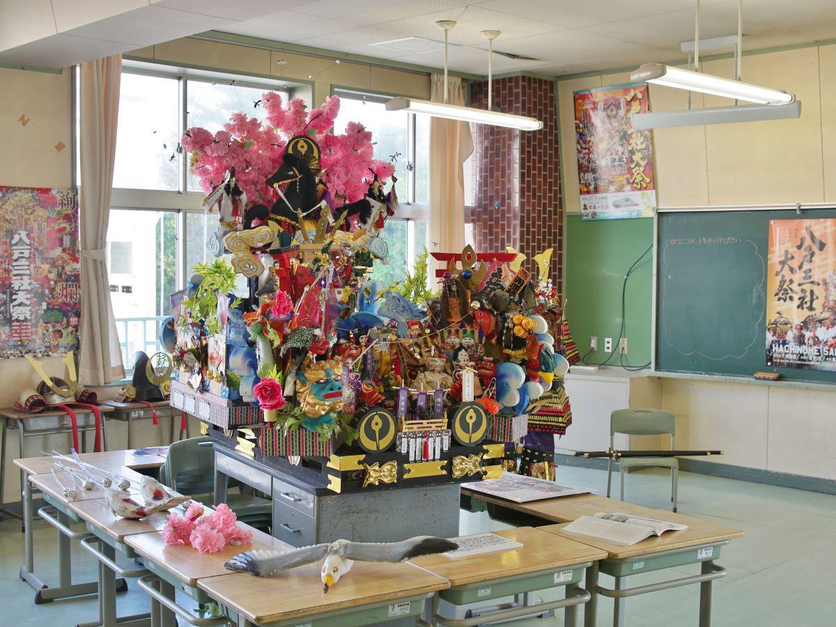 小学校で八戸三社大祭の魅力伝える