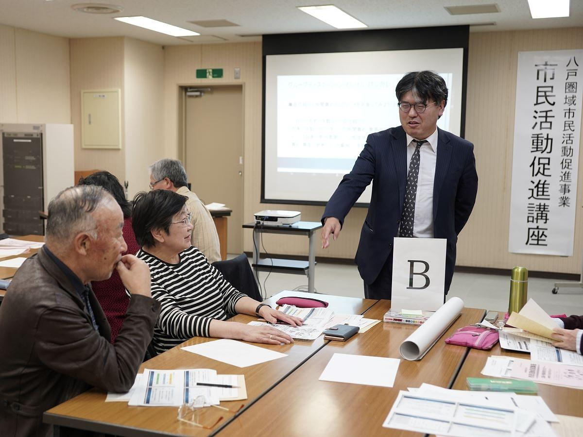 「あおもりNPOサポートセンター」事務局長の柳沢拓哉さん