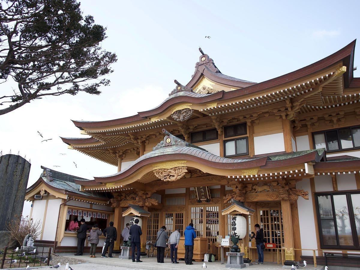 再建した蕪嶋神社
