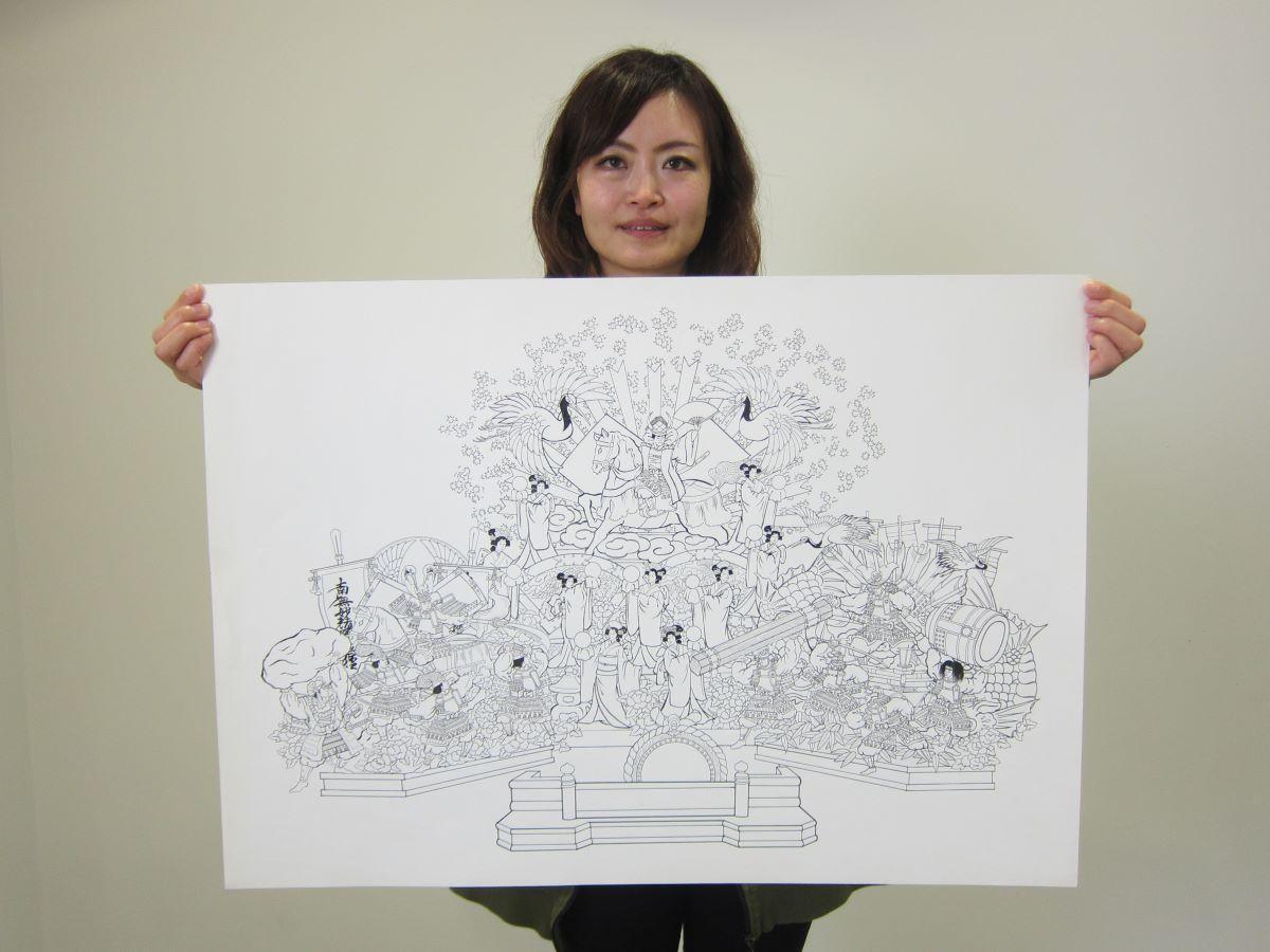 八戸三社大祭の山車絵