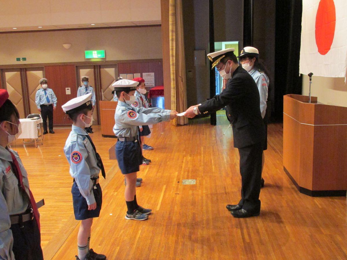八戸海洋少年団入団式・昇任式