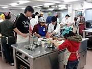 親子で「パパっ!とかんたんイタリアン」-八王子の高校で料理教室