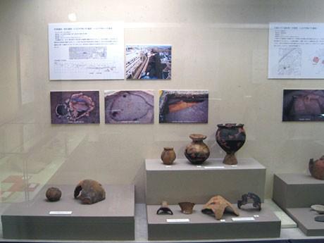 八王子郷土資料館で始まった「八王子市の発掘成果展」の様子