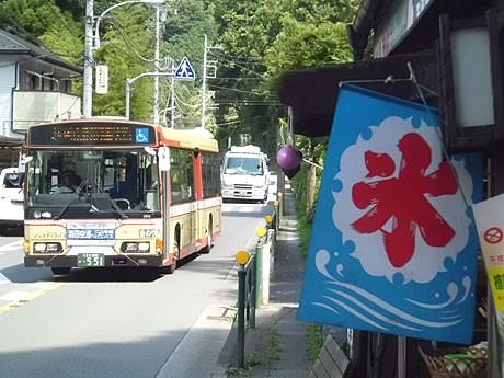 檜原村の村内を走る西東京バスの姿