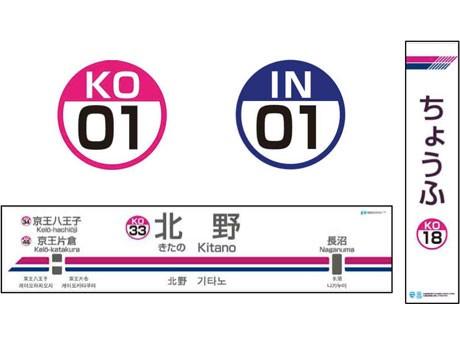 2月22日から導入される駅ナンバリングと駅名看板のデザイン