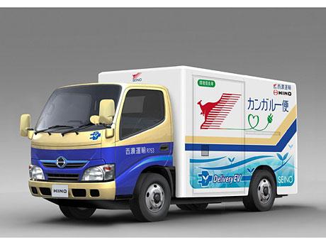 「カンガルー便」として導入される電動小型トラック