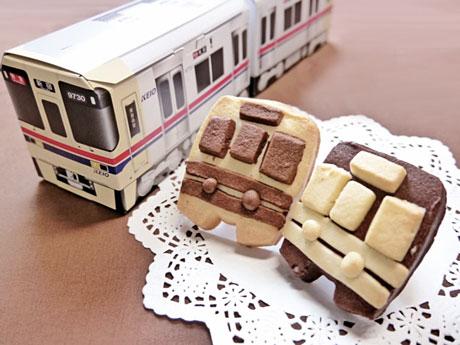 9月1日から販売が開始された「京王電鉄9000系 電車クッキー」
