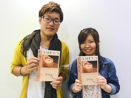 「CAMPUS×CAFE」を作り上げた石垣さん(左)と小野さん(右)