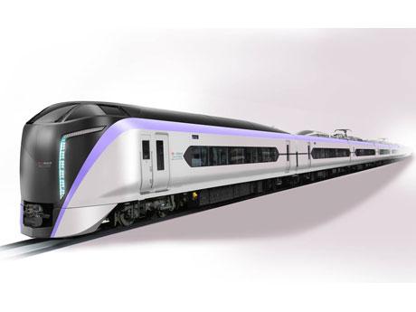 先行車が製作される中央線特急用の新型車両「E353系」の車両イメージ