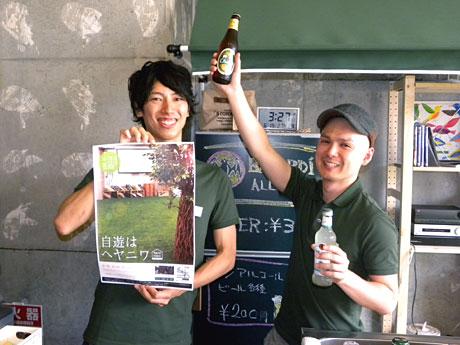 「ヘヤニワ」を運営するミライトの高見澤社長(左)と後藤店長(右)