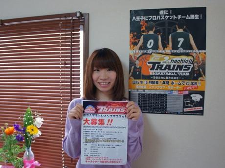 マスコットキャラクターの募集を進める東京八王子トレインズの中村さん