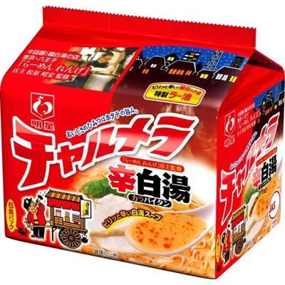 5月4日に発売される「明星 チャルメラ 辛白湯ラーメン 5食パック」