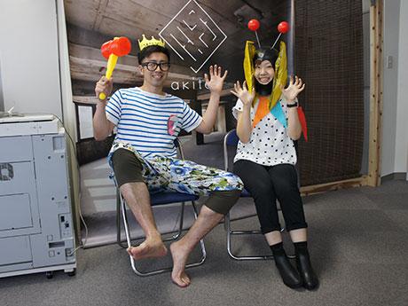 ワークショップの開催に向けて気合を入れる及川さん(左)とYamamotoさん(右)