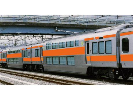 中央線快速電車に連結するグリーン車のイメージ