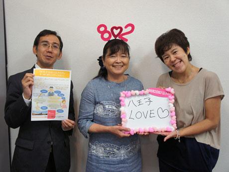 プロジェクトを手掛ける川久保さん(中央)と塩越さん(右)、大熊さん(左)