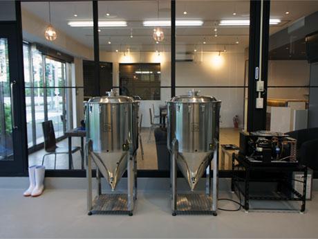オープンな空間となっている「Shared Brewery」の醸造所