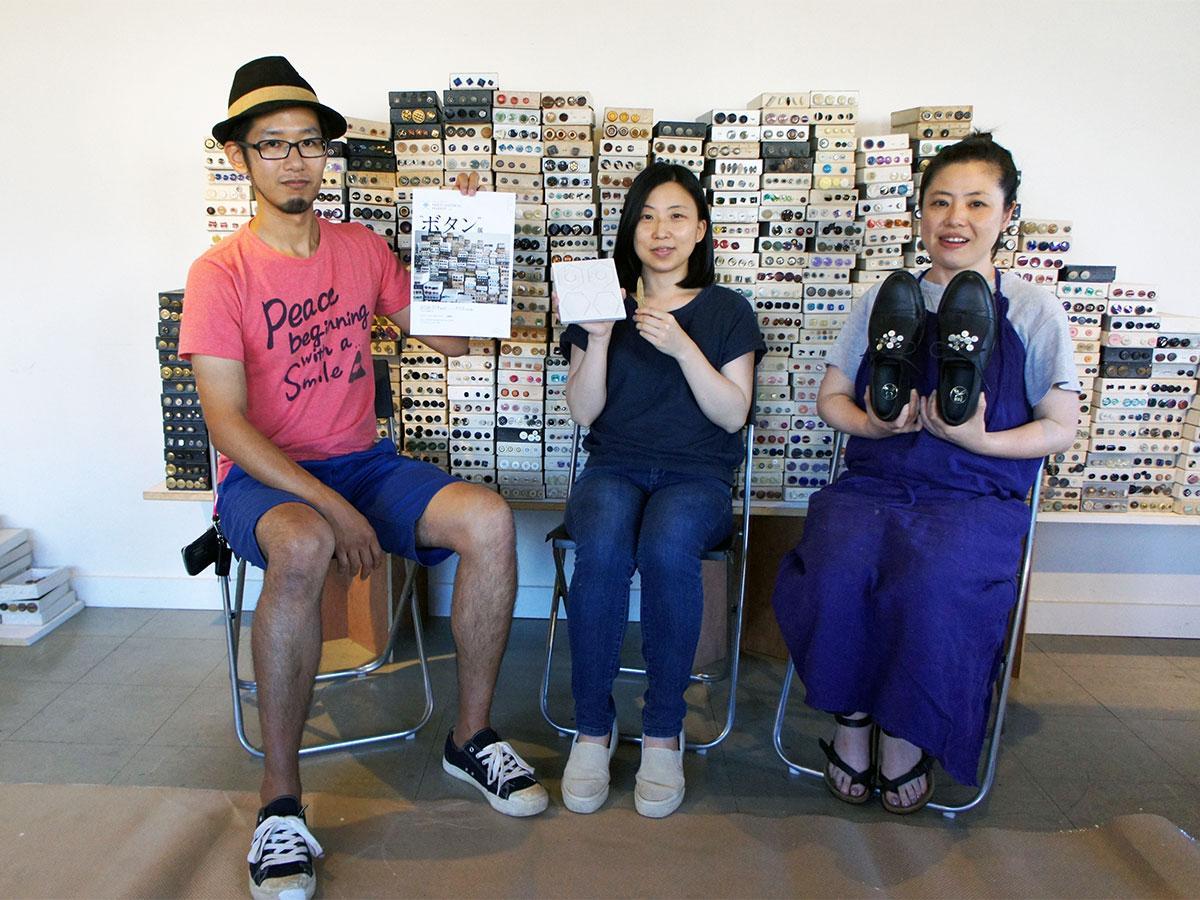イベントを手掛ける和田さん(左)と今回参加する森屋さん(中央)、平嶌さん(右)