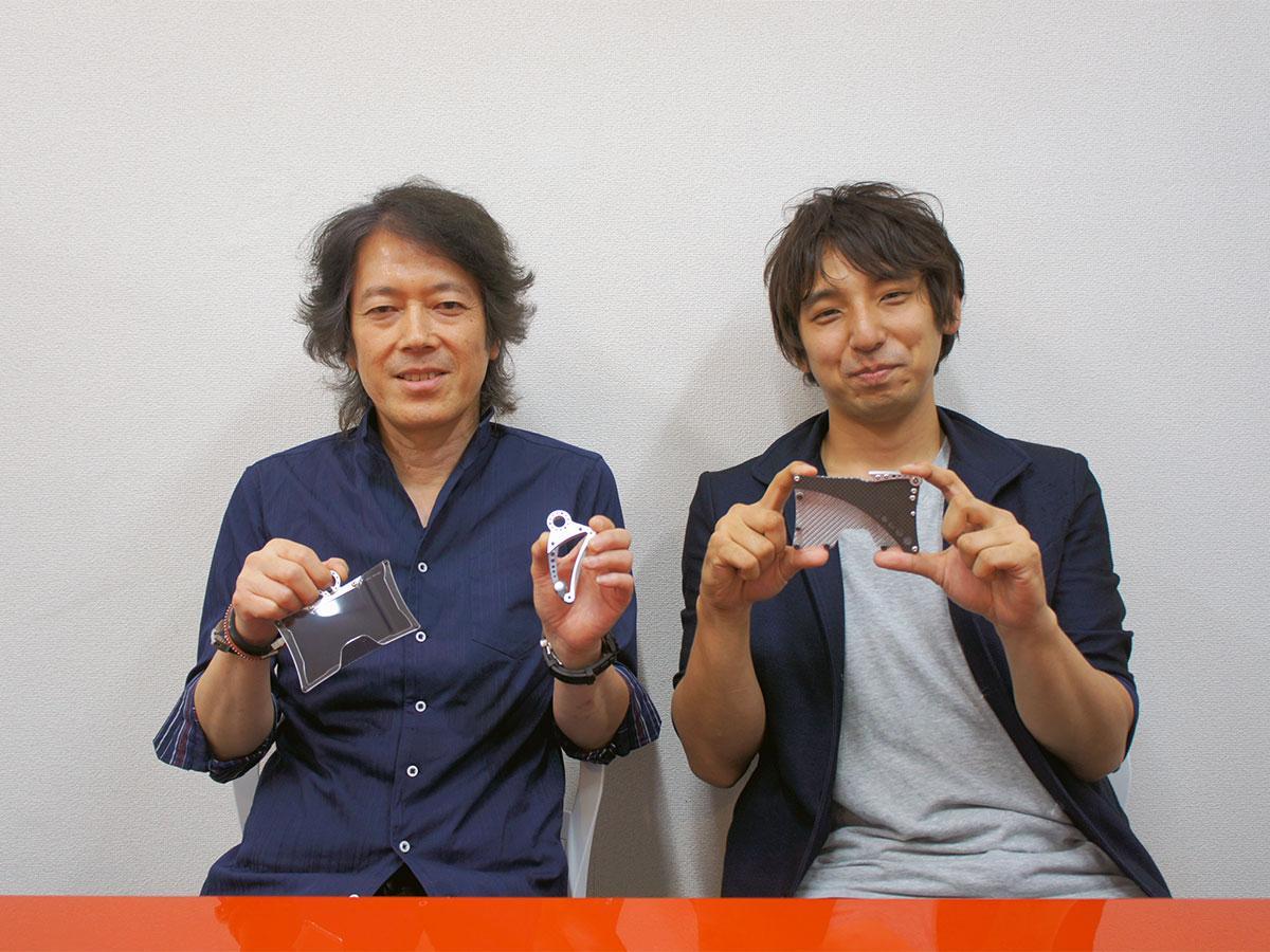 ナラハラオートテクニカルの阪本さん(左)とジェンコの藤澤さん(右)© HEADGEAR