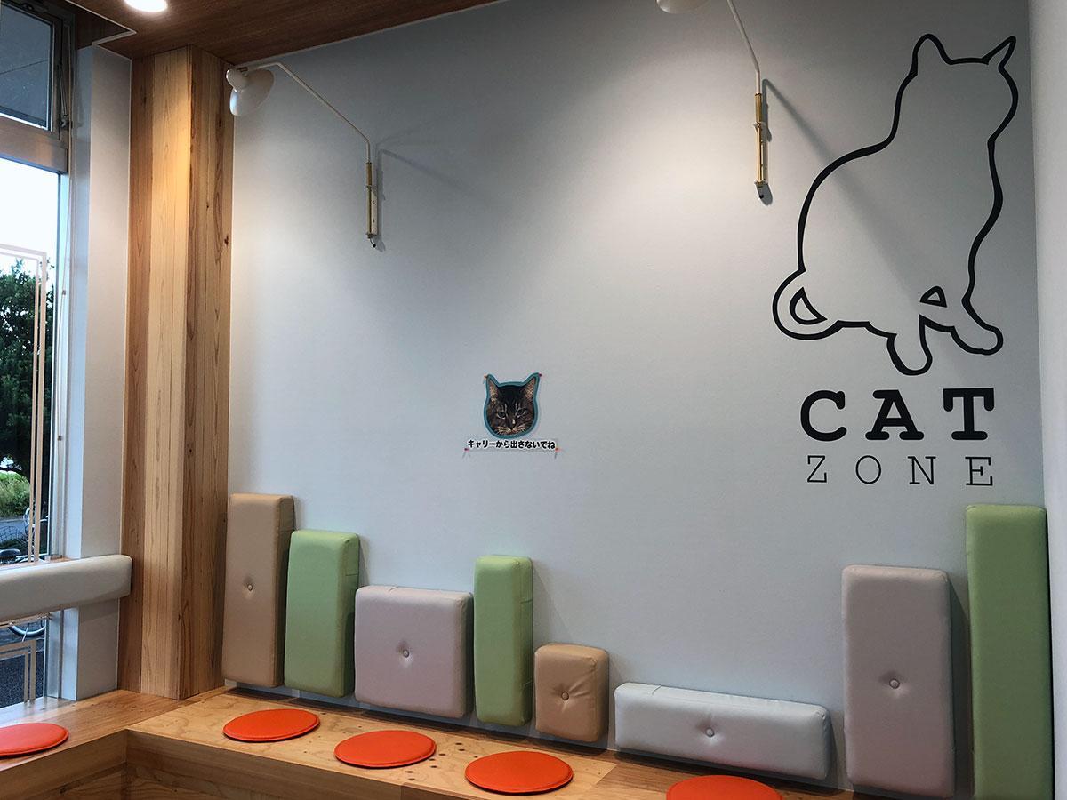 ネコ向けの待合室