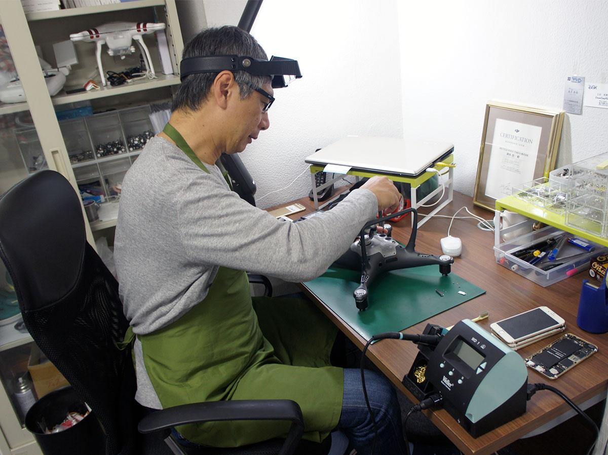修理・点検のための工房を用意