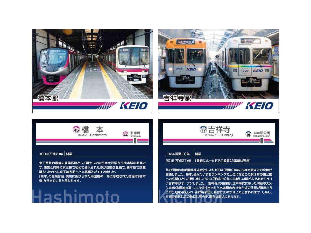 「京王電車カードラリー」ではオリジナルのトレーディングカードを用意