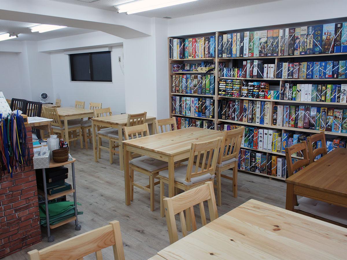 「ボードゲームカフェ らぽる」の店内の様子