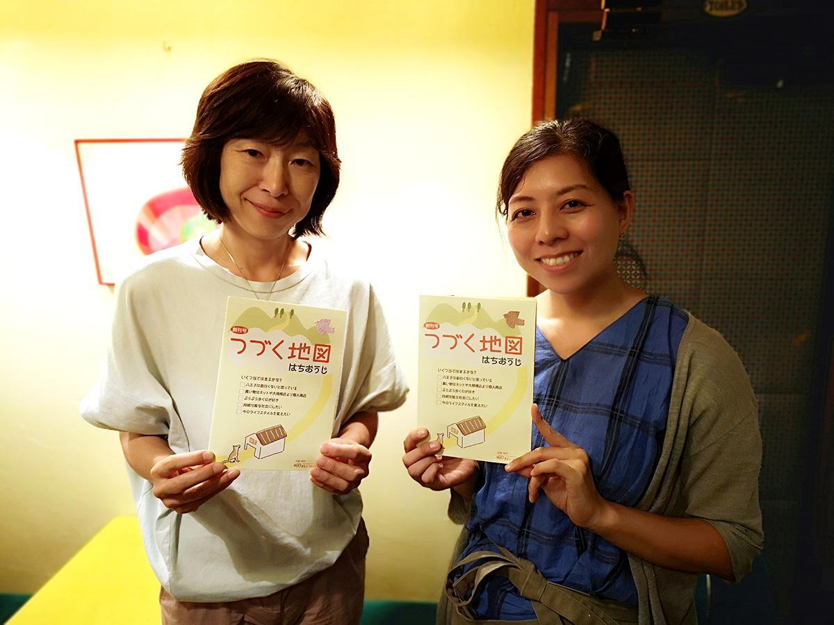 イベントを手掛ける大野さん(右)、花崎さん