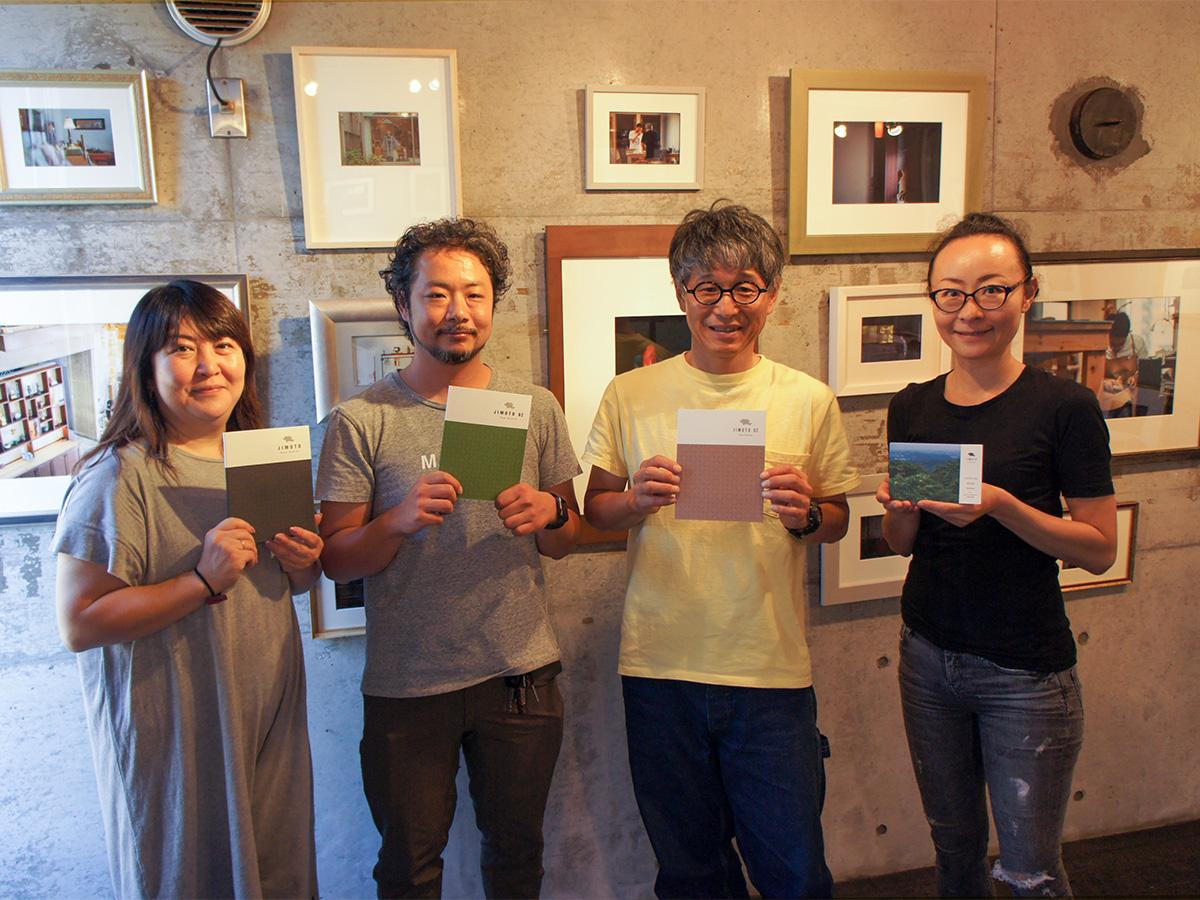 「JIMOTO」を手掛ける望月さん(中央右)、鈴木さん(中央左)、坂本さん(最左)と中村さん