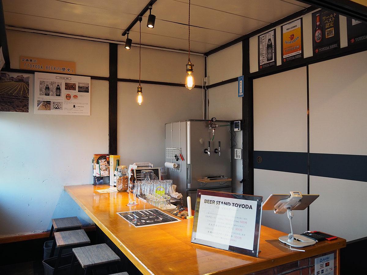 空き家を改装した「Beer Stand Toyoda」の店内