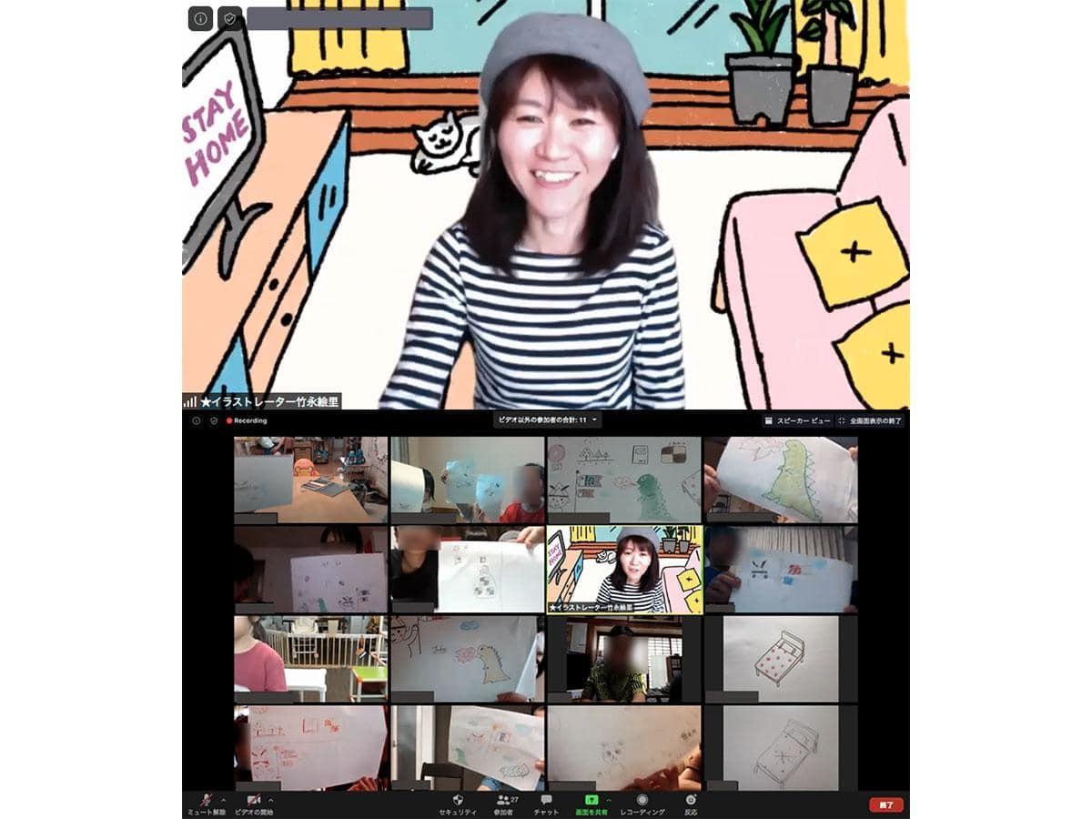 5月に行われた「みんなのキャンバス」では、イラストレーターの竹永さんによるワークショップなどを実施