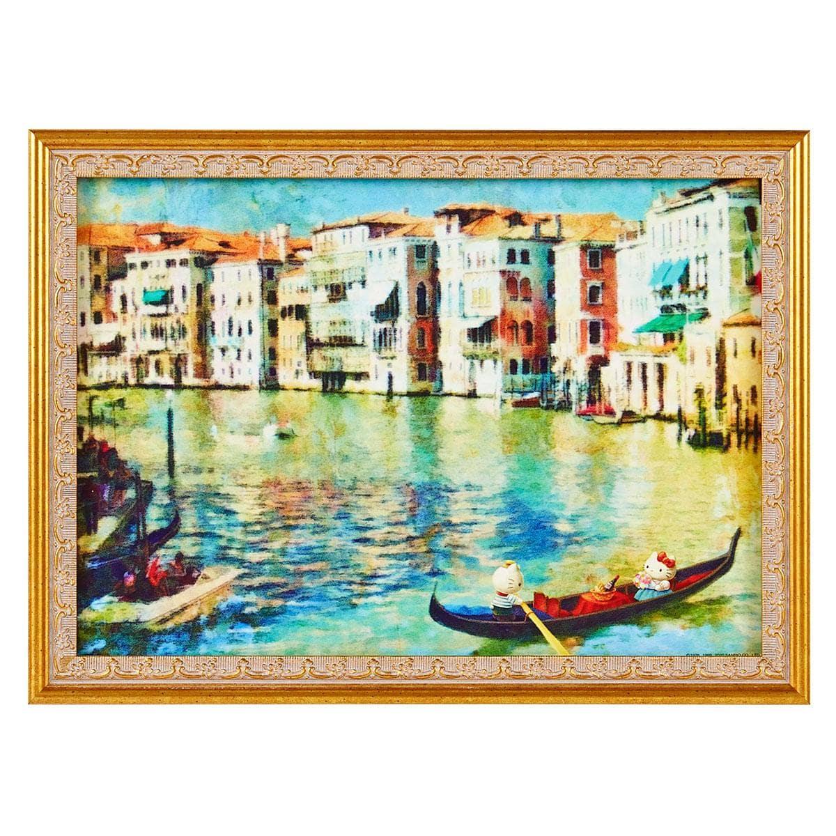 再販売される絵画「ハローキティとディアダニエルのベネツィアデート」 © 1976, 1990, 1996, 1999, 2001, 2010, 2021 SANRIO CO., LTD.