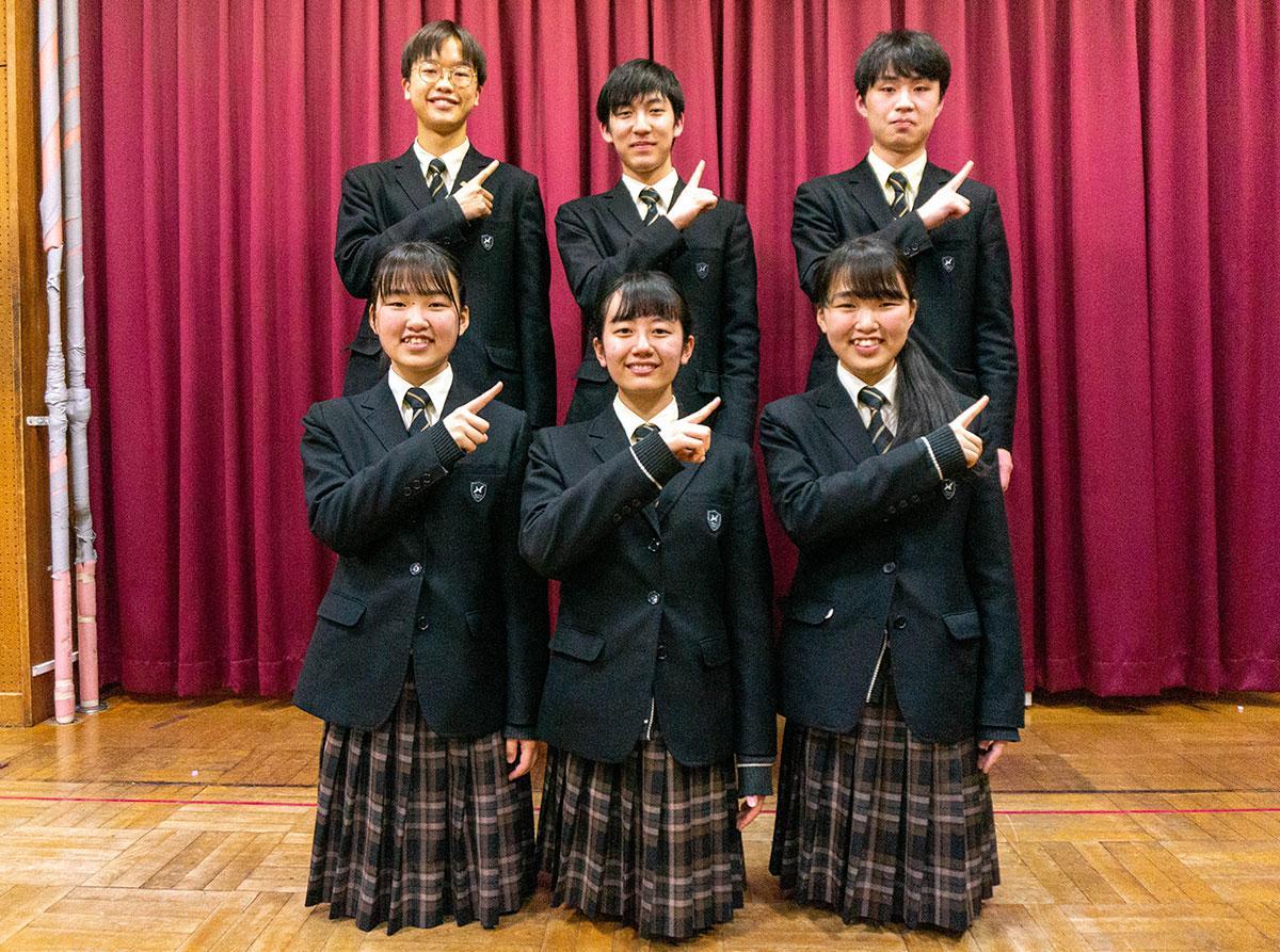 3月28日に定期演奏会を開催する八王子学園八王子高校吹奏楽部員