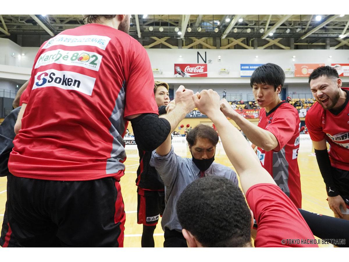 4月から石橋貴俊さんがヘッドコーチに返り咲いたビートレインズ(写真提供=東京八王子ビートレインズ)