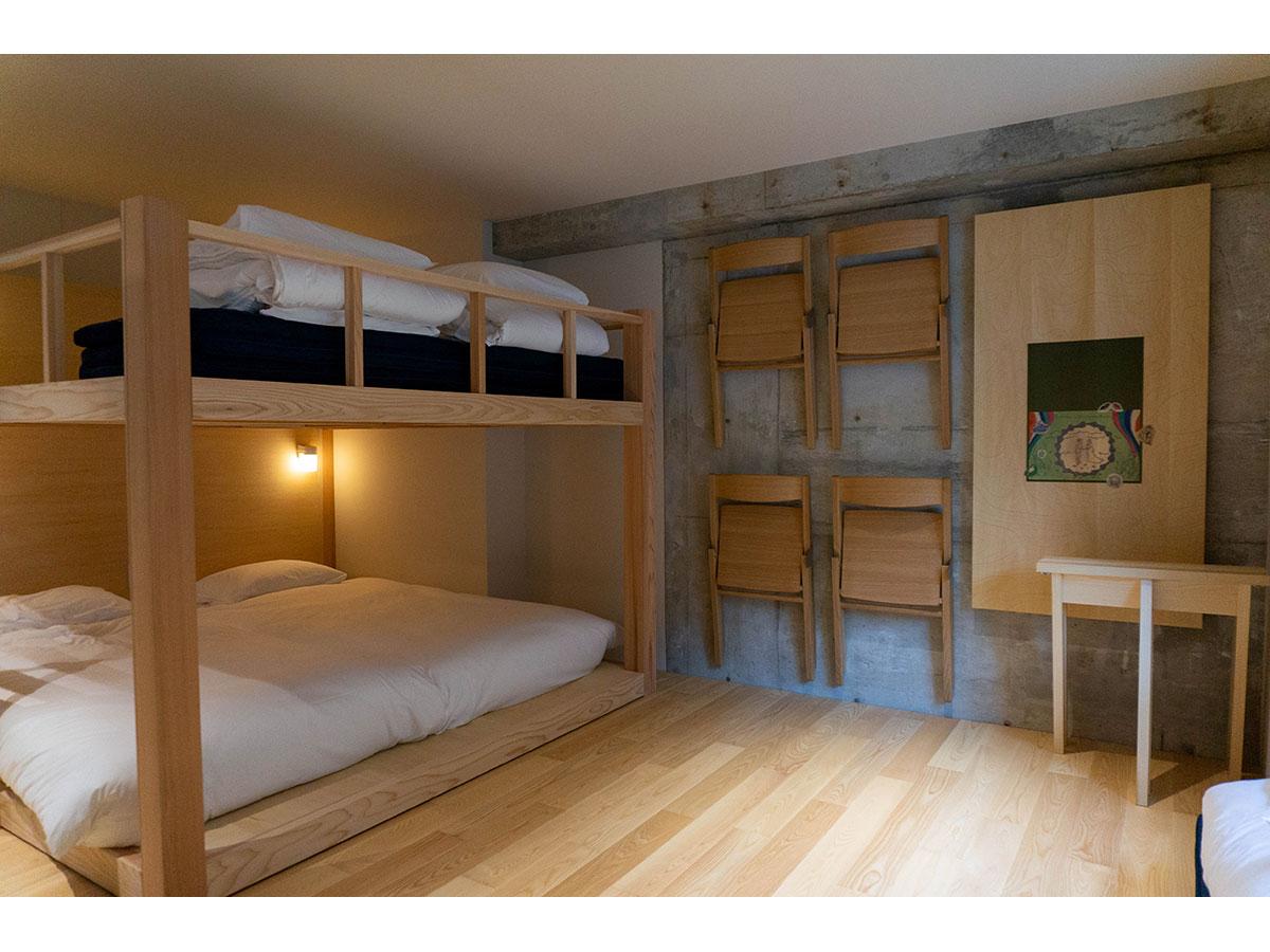 2段ベッドを設けた「スーペリアルーム」も