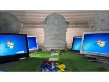 「Windows 7」サポート終了受け、しのぶ動画 八王子のパソコン処分サービス店がツイッターに投稿