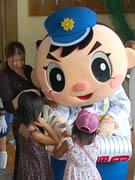 県警マスコット「ふっけい君」が防犯講演会-福岡県警博多署