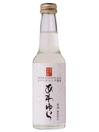 先月発売したスパークリング清酒「あわゆら」。炭酸を感じさせないやわらかな泡の口当たりと、清酒ながらリンゴ酸のすっきりした甘酸っぱさが特徴。