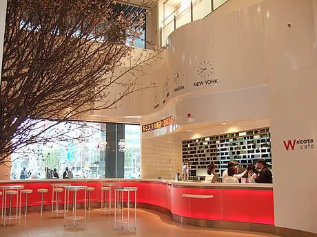博多阪急1階エントランス横には「ウエルカムカフェ」