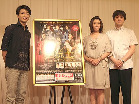 (左から)井上芳雄さん、瀬奈じゅんさん、山口祐一郎さん