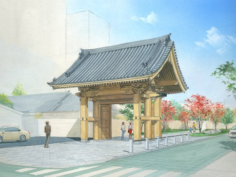 承天寺そばに建設予定の「博多千年門」イメージ