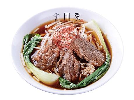 金田家のA5ランクの和牛をトッピングした「牛肉麺」