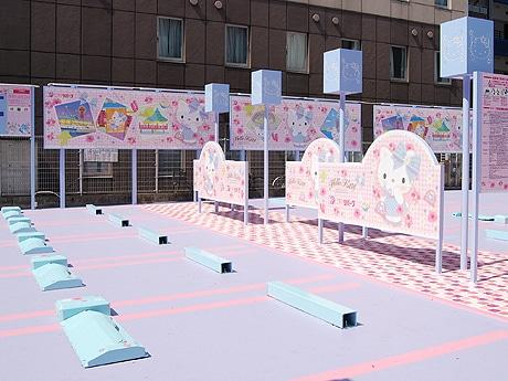 福岡・中洲に「ハローキティ」とコラボレーションした駐車場が登場